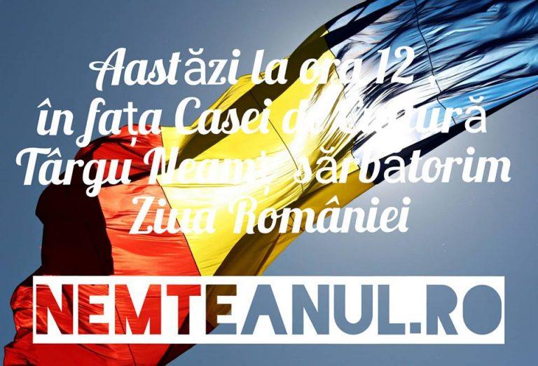 Centenarul sarbatorit la Targu Neamt , 1 Decembrie ora 12,00