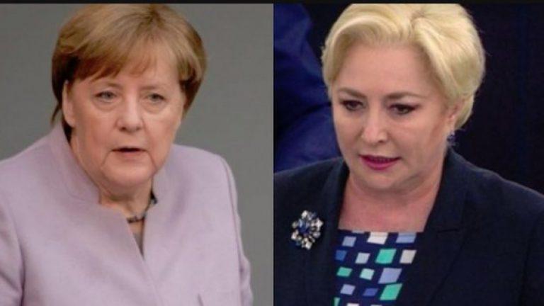 Angela Merkel a sunat-o pe Viorica Dăncilă pentru gazoductul Nord Stream 2