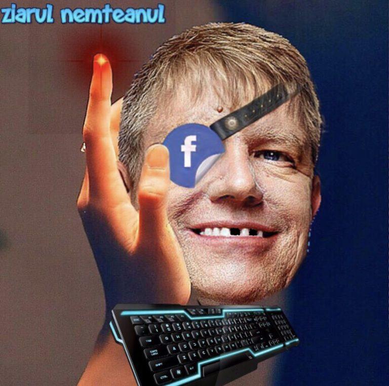 Klaus Funnyakis sufera de apendicita la degete in urma tastatului inutil pe facebook,singurul loc unde este cu adevarat un Presedinte