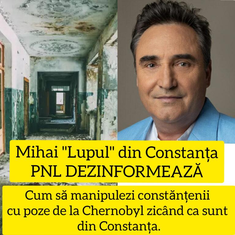 Mihai Lupu de la PNL  face propagandă mincinoasă cu poze de la Chernobyl, zicând că sunt din Constanța. ( POZE)