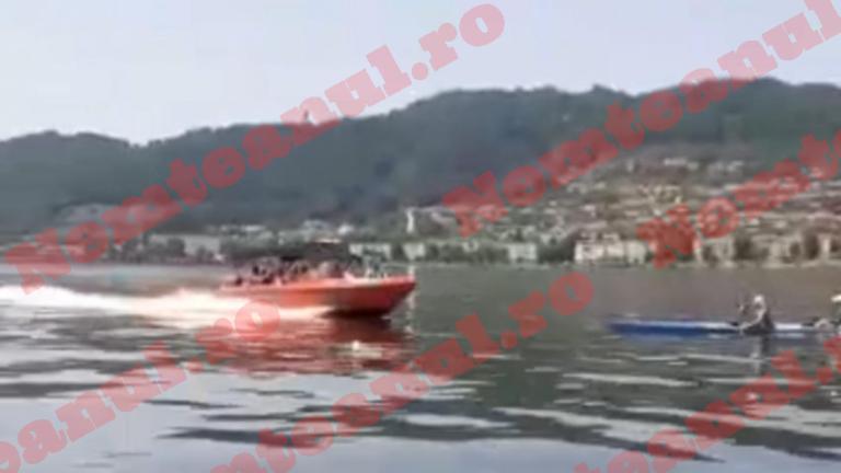 Orşova: Patru sportivi care se aflau într-un caiac pe Dunăre, loviţi în plin de o şalupă | VIDEO